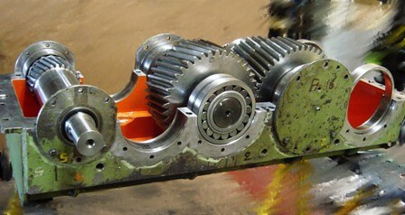 Reparación reductor industria siderúrgica